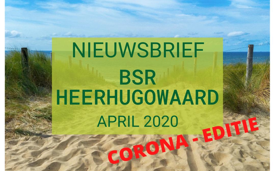 Nieuwsbrief April 2020 – Corona update nr 2